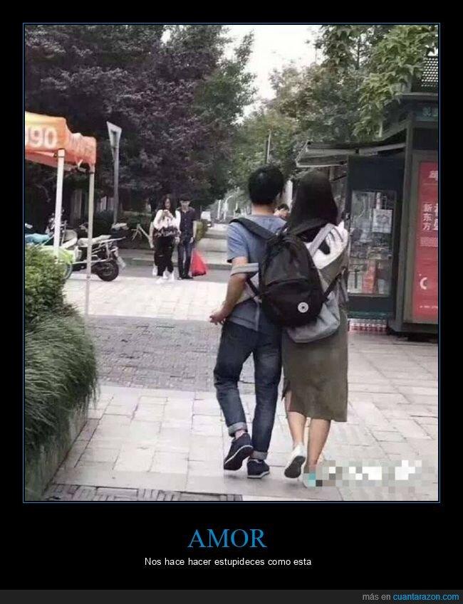 amor,mochila,pareja