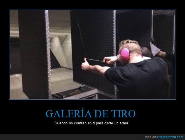 arma,galería de tiro,goma