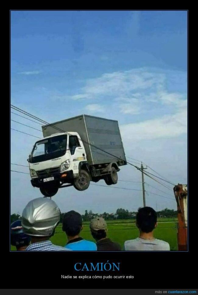 cables,camión,fails,wtf