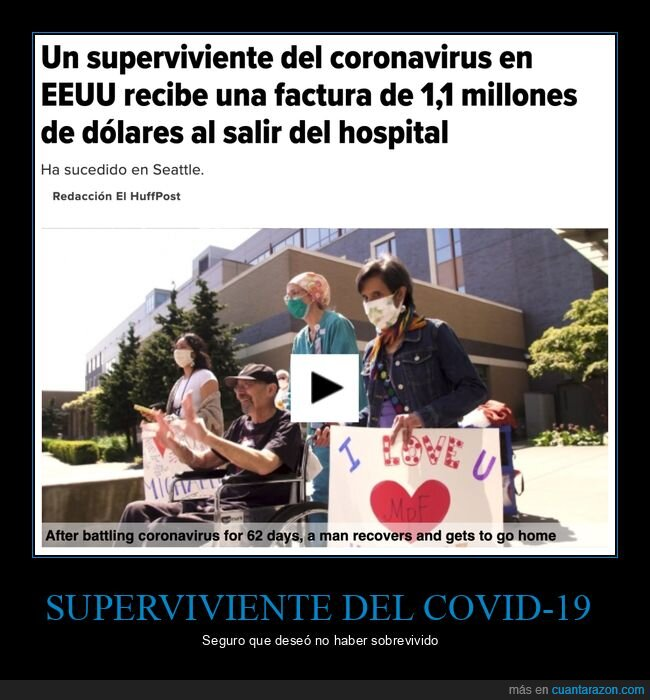coronavirus,eeuu,factura,hospital,superviviente