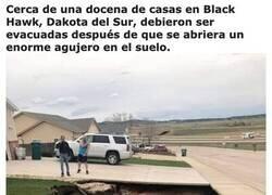Enlace a Se abrió un sumidero gigante en Dakota del Sur, y descubrieron una mina de yeso abandonada