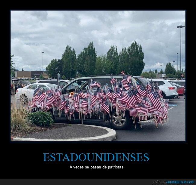 banderas,coche,eeuu,wtf