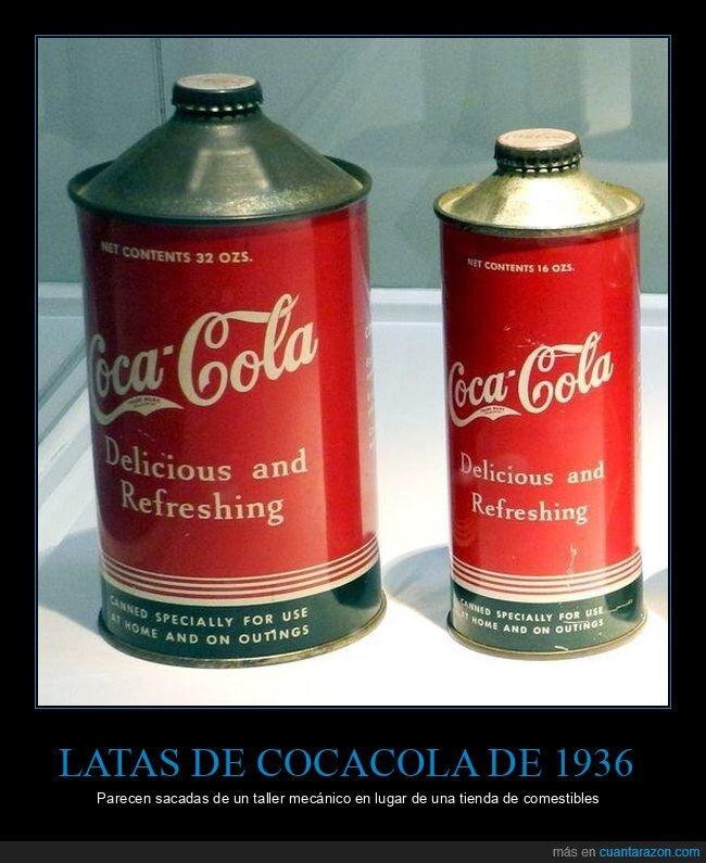 1936,cocacola,latas,retro