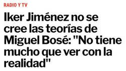 Enlace a Demasiado hasta para Iker Jiménez