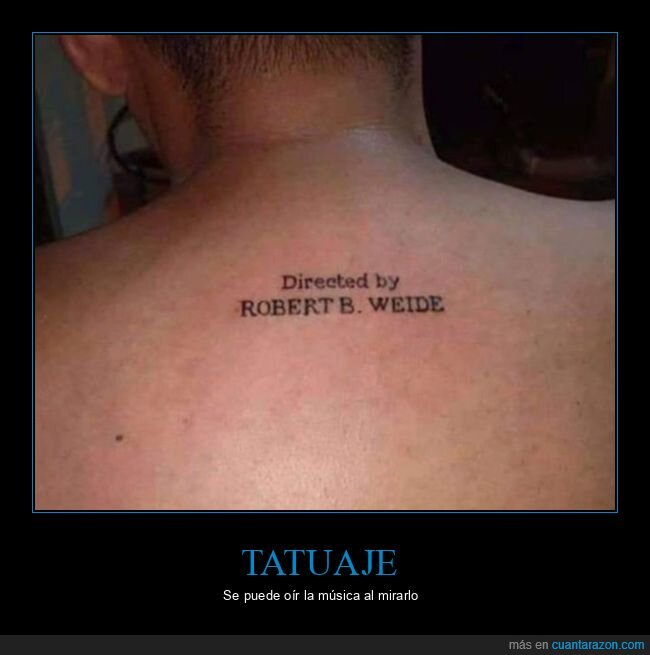 robert b weide,tattoo,wtf