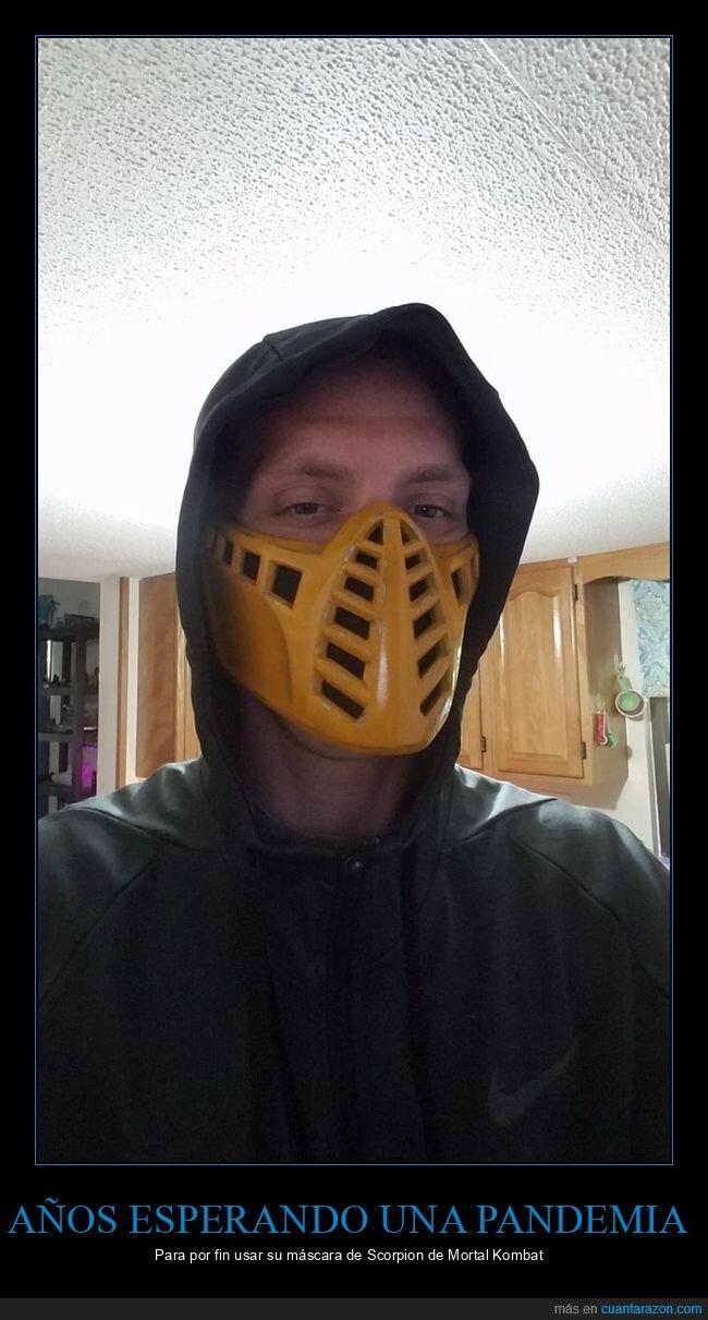 coronavirus,máscara,mascarilla,mortal kombat,pandemia,scorpion