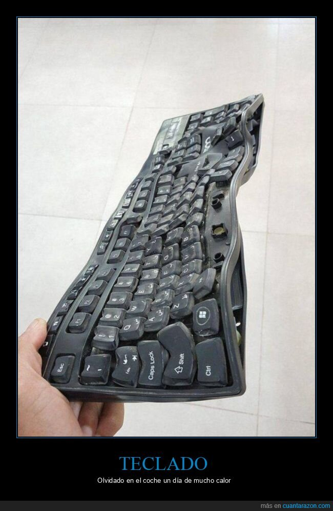 calor,coche,teclado