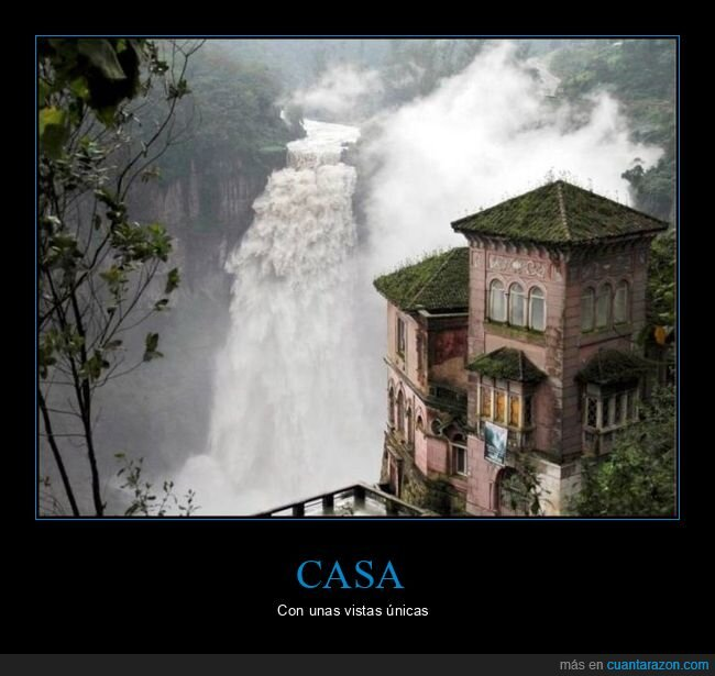 casa,catarata,vistas