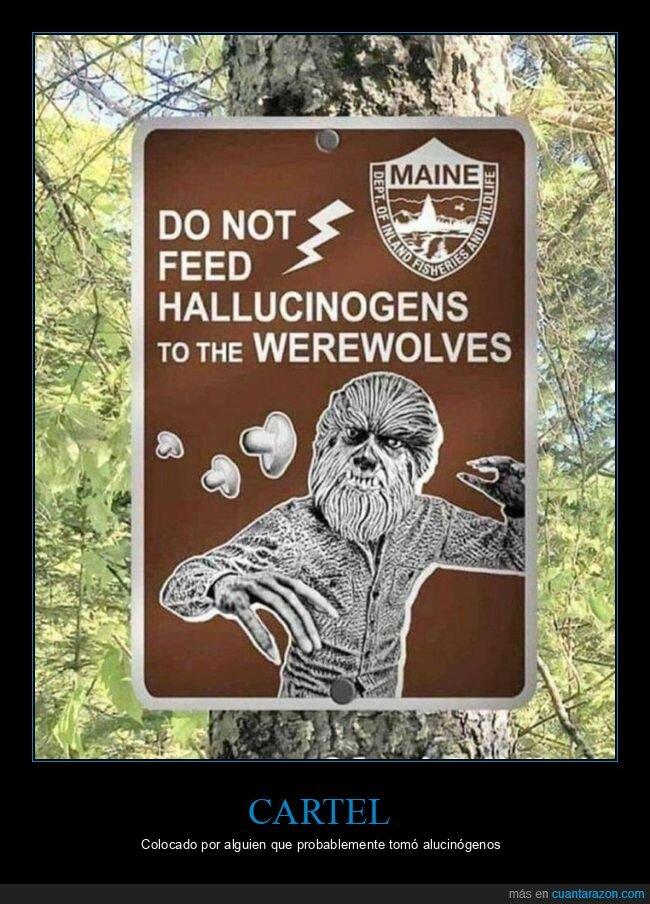 alucinógenos,cartel,hombre lobo