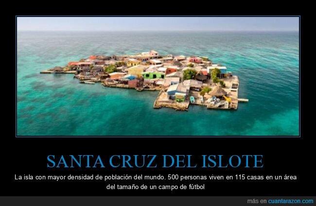 curiosidades,densidad de población,isla,santa cruz del islote