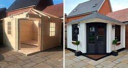 Enlace a Esta pareja construyó un mini pub en el jardín, y asombró a todos con su interior hecho a mano