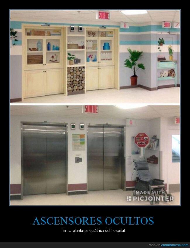 ascensores,hospital,ocultos,psiquiátrico