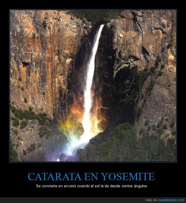 arcoiris,catarata,curiosidades,sol,yosemite