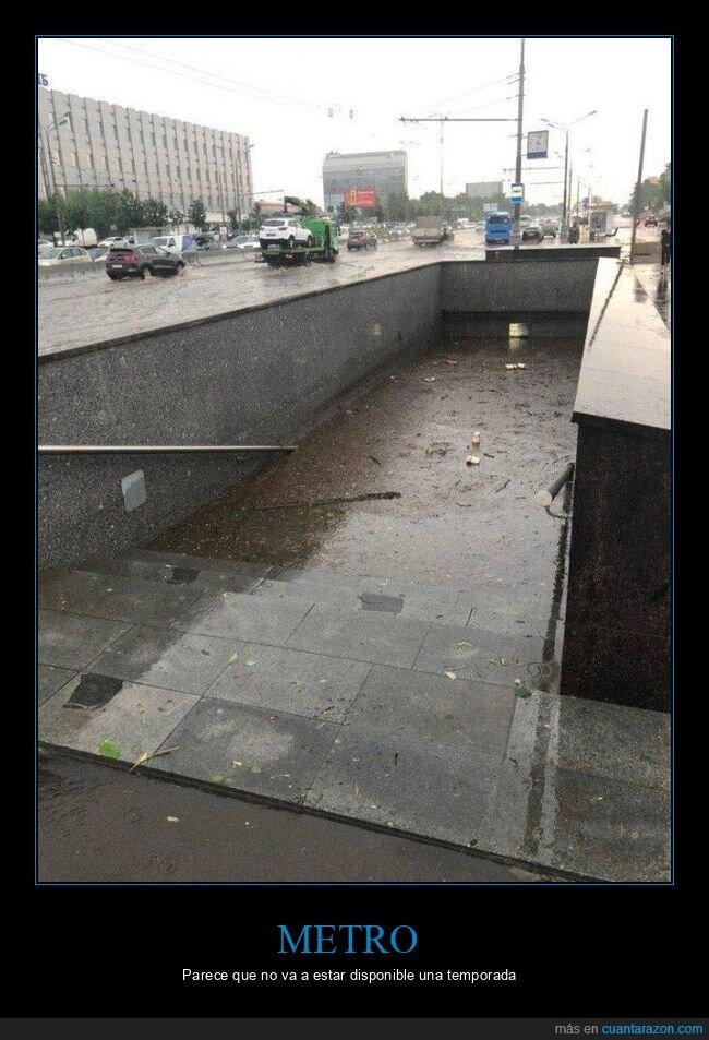 agua,inundación,metro,wtf