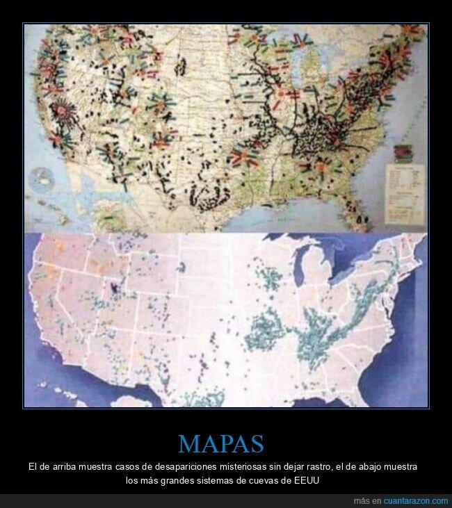 cuevas,desapariciones,eeuu,mapas