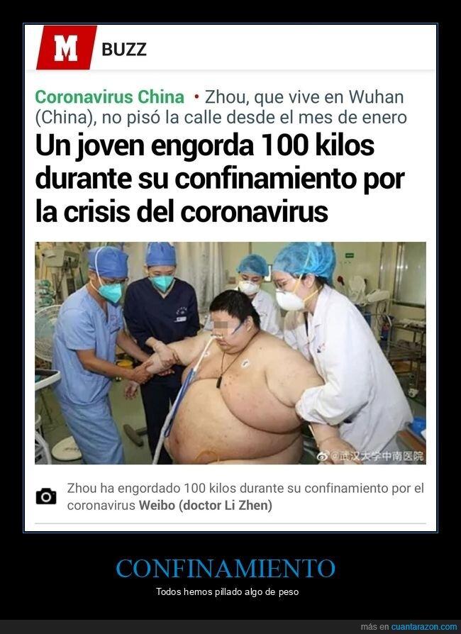 100 kg,confinamiento,coronavirus,engordar,wtf