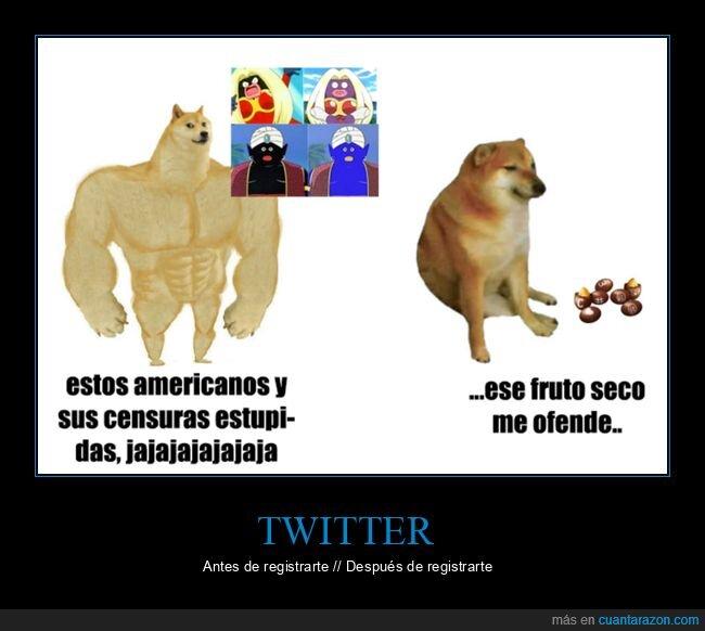 censura,doge y cheems,ofendidos,twitter