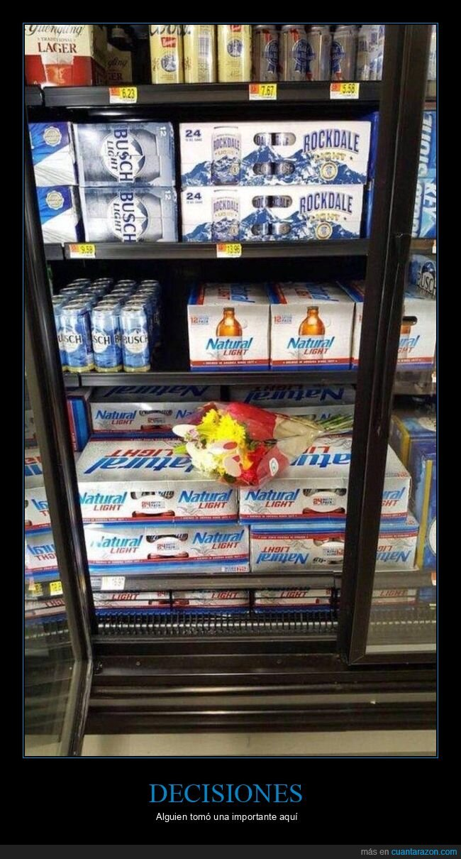 cerveza,decisión,flores,supermercado