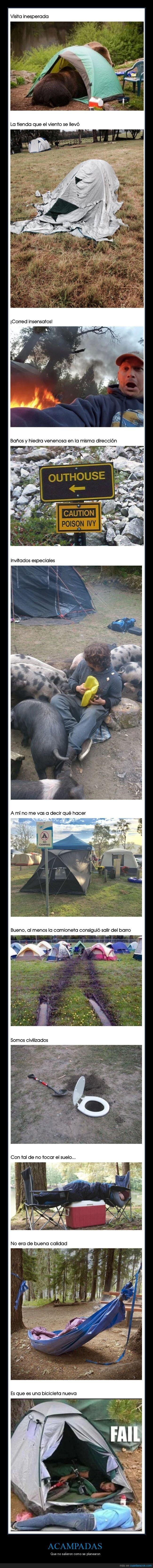 acampadas,fails