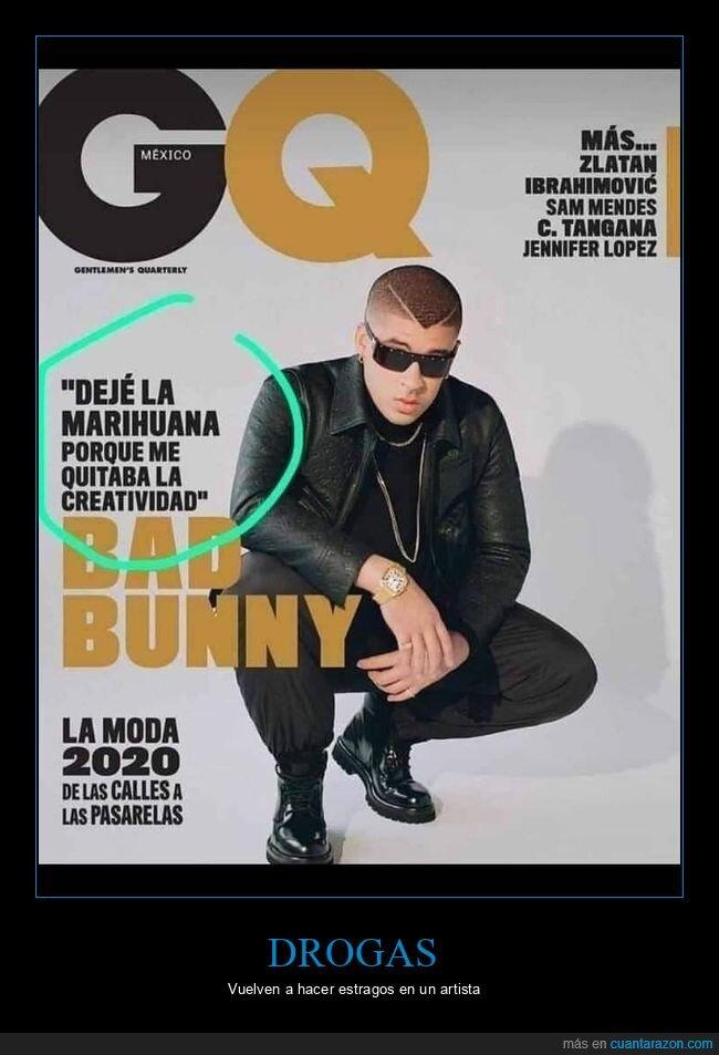 bad bunny,creatividad,marihuana