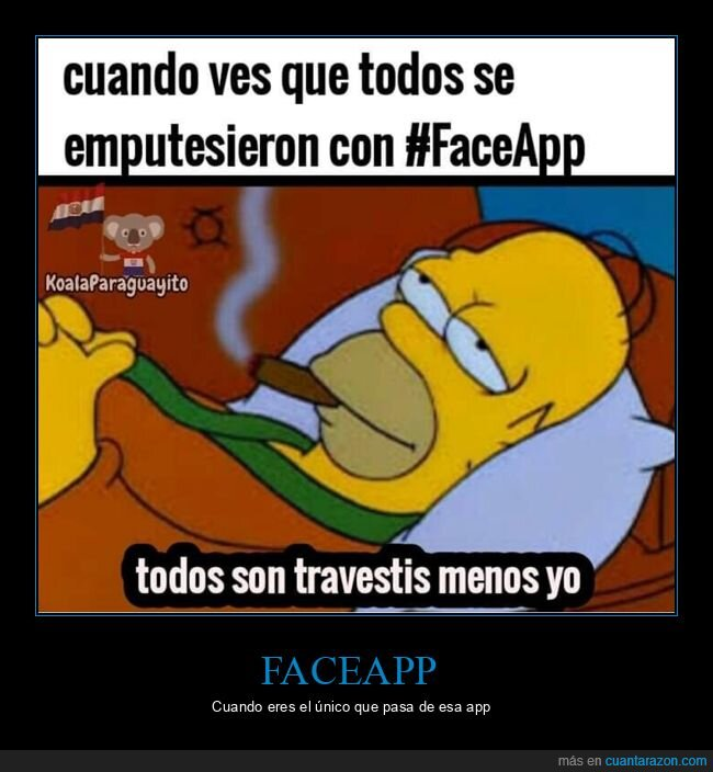 faceapp,homer,simpsons,travestis