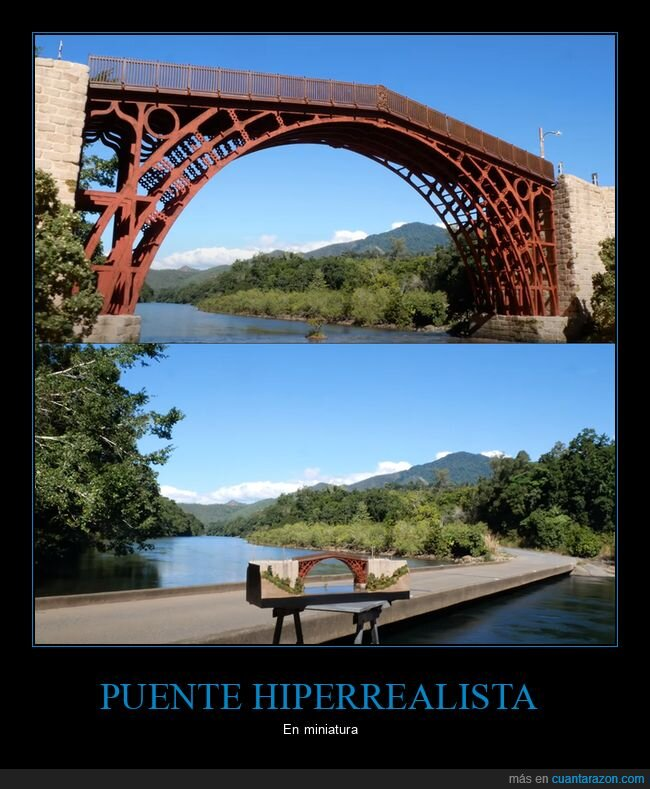 hiperrealista,minuatura,puente