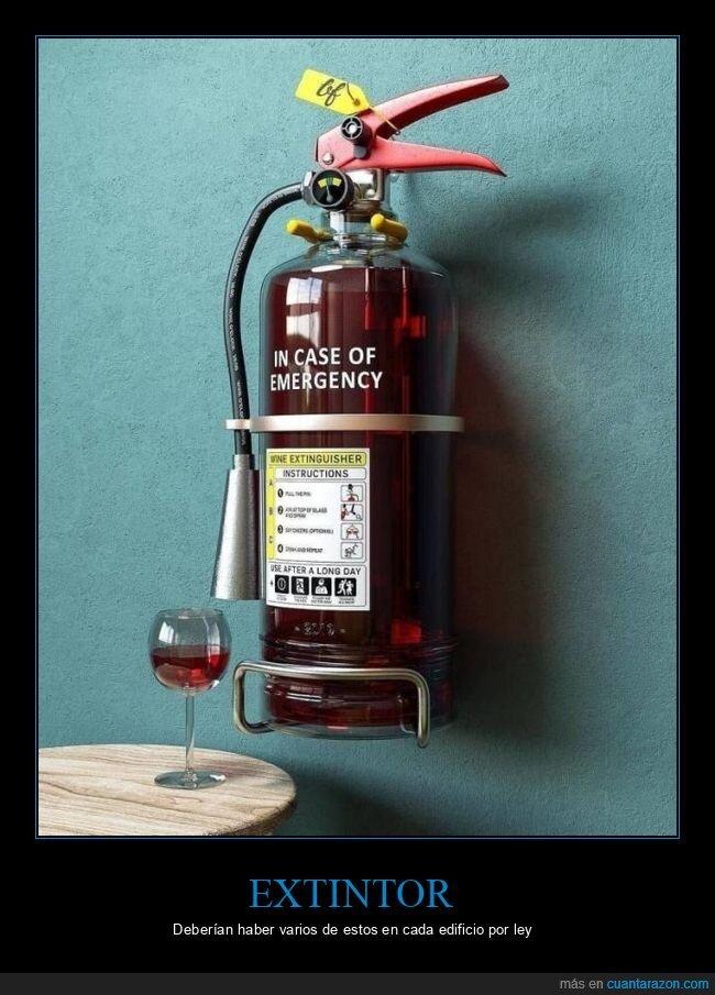 emergencias,extintor,vino