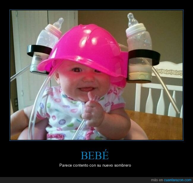 bebé,biberones,leche,sombrero