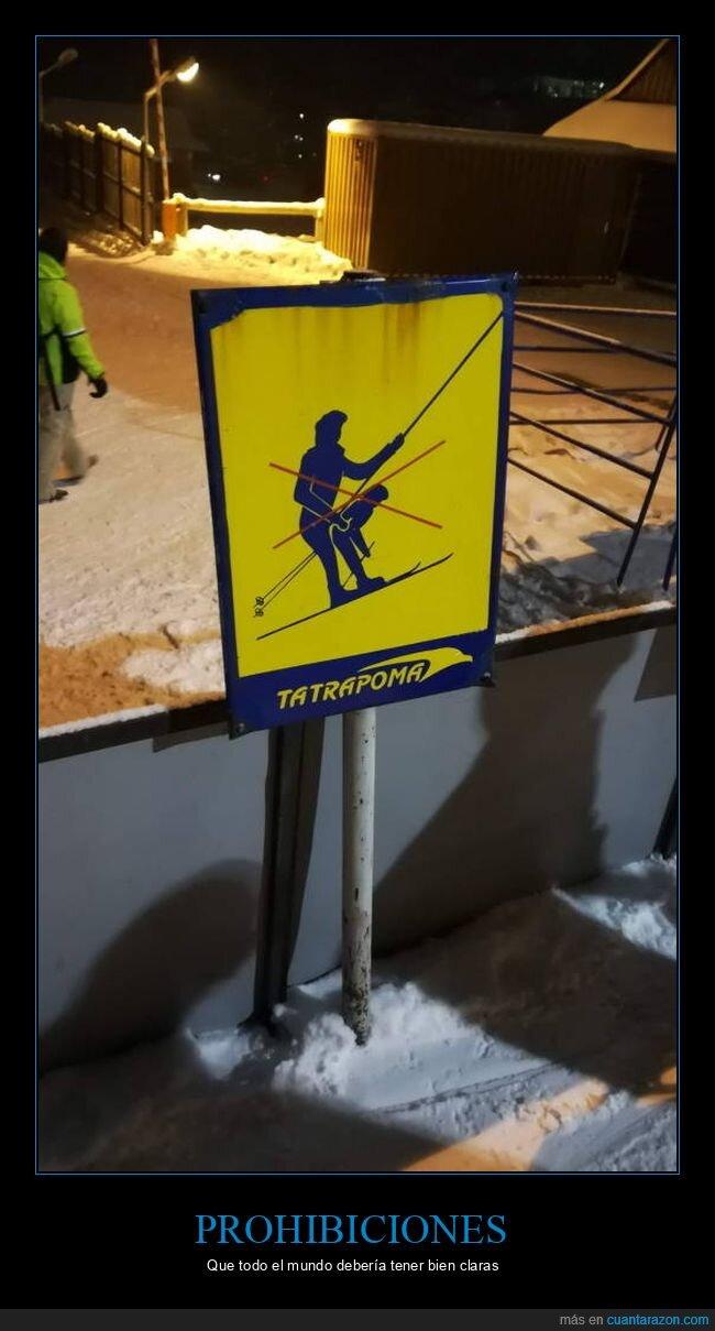 cartel,esquí,wtf