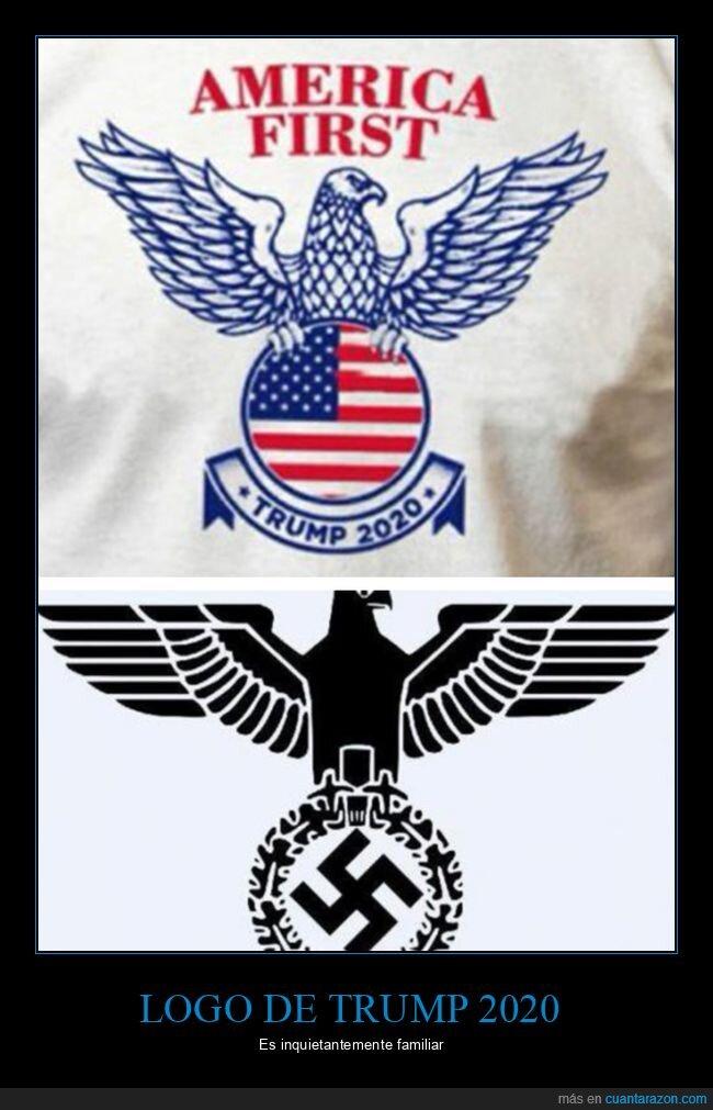 2020,donald trump,logo,nazi,políticos