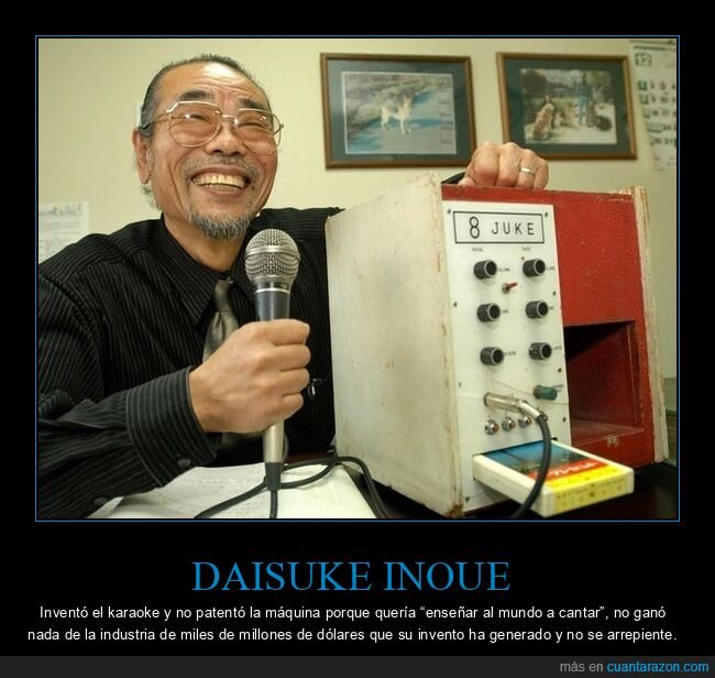 daisuke inoue,inventor,karaoke