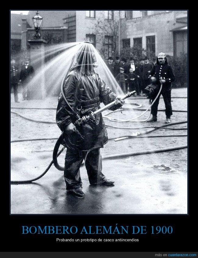 1900,alemán,bombero,casco,prototipo