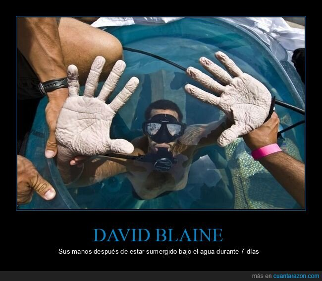agua,arrugadas,david blaine,manos