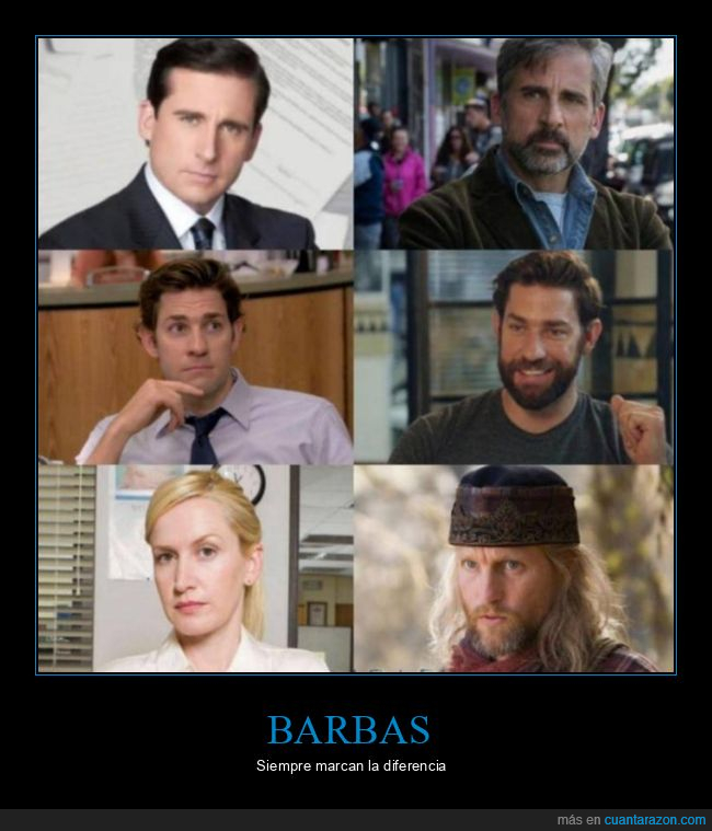 barbas,diferencias,the office