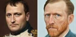 Enlace a Un artista decidió recrear los rostros de personajes históricos y el resultado es genial