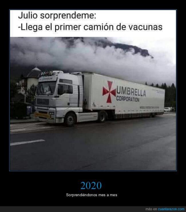 camión,resident evil,umbrella corporation,vacunas