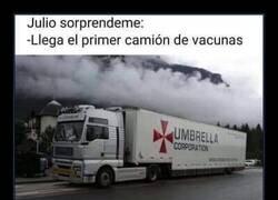 Enlace a Solo es el camión de una empresa farmacéutica...