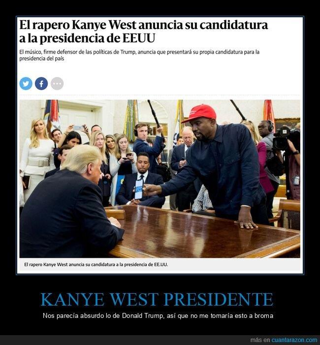 candidatura,eeuu,kanye west,presidencia