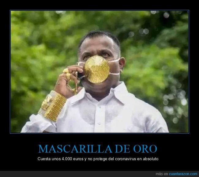 coronavirus,mascarilla,oro