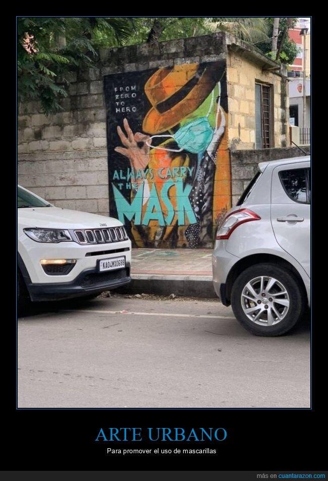 arte urbano,coronavirus,la máscara,mascarillas
