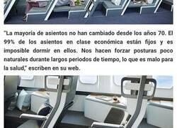 Enlace a Este nuevo diseño de asientos de avión permite que los pasajeros de clase económica se tumben