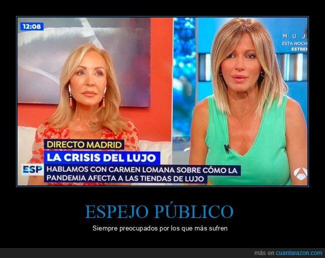 carmen lomana,coronavirus,crisis,espejo público,lujo,wtf