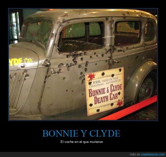 bonnie y clyde,coche,morir