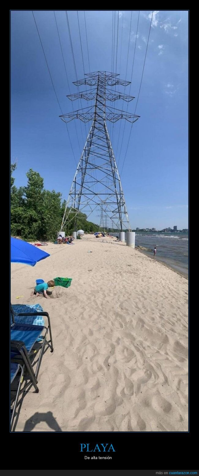 playa,torres eléctricas,wtf