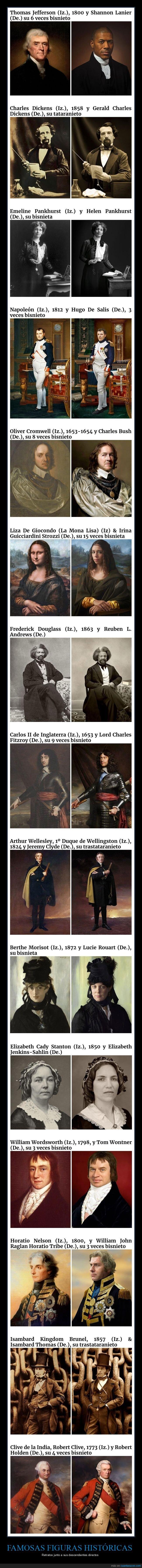 descendientes,figuras históricas,retratos