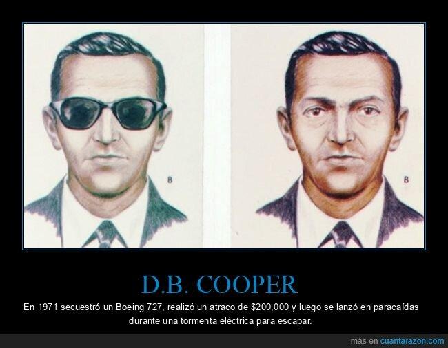 atraco,avión,d.b. cooper,escapar