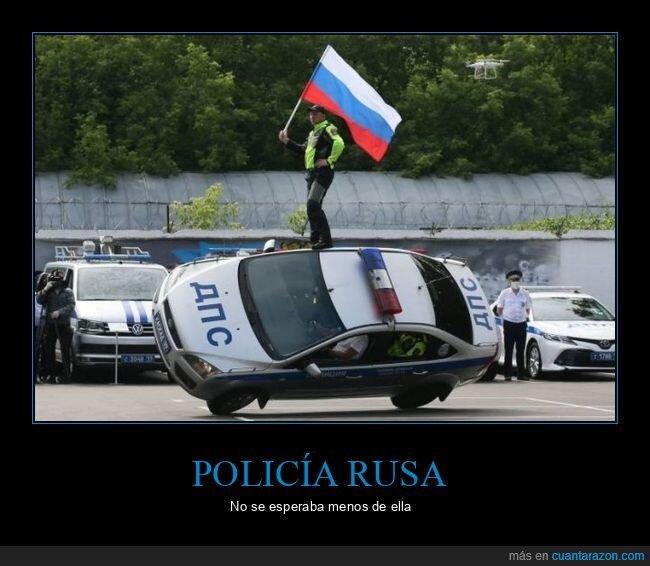 coche,policía,rusos,wtf