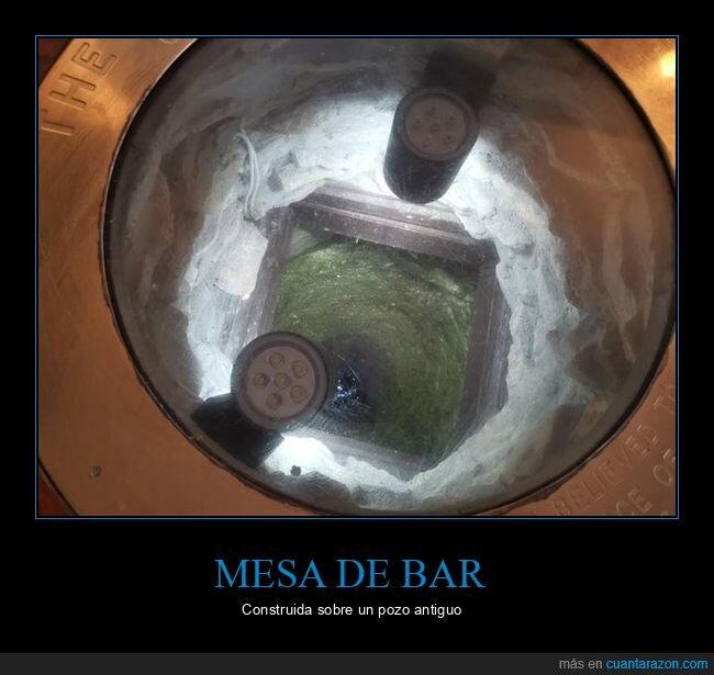 bar,mesa,pozo