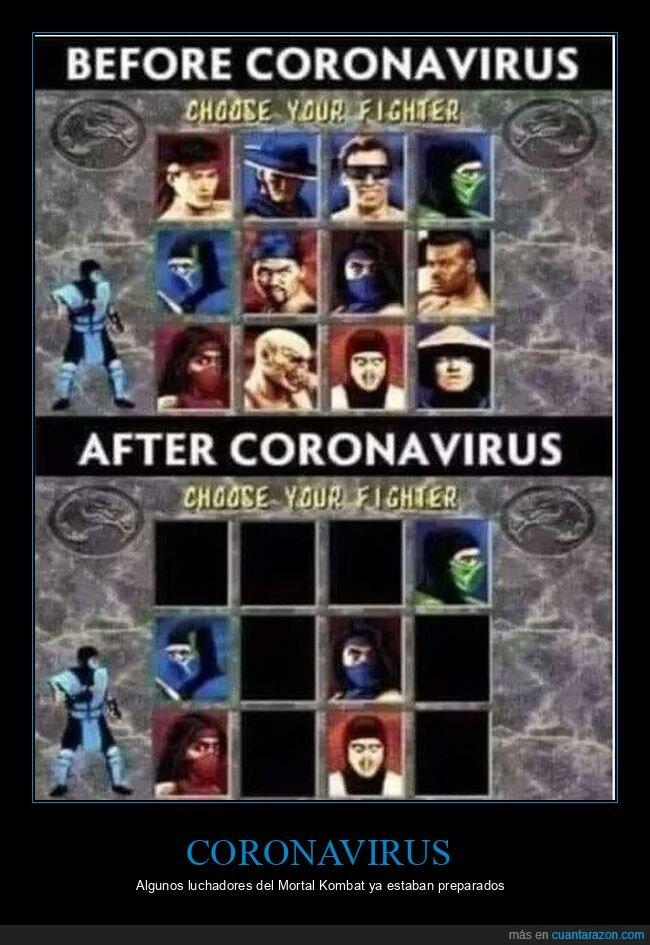coronavirus,mascarillas,mortal kombat