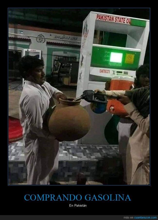 gasolina,pakistán,vasija